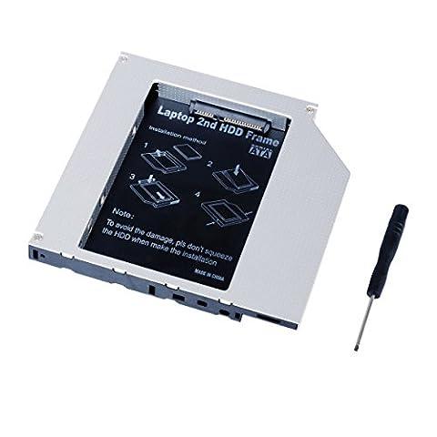 QUMOX Laptop 2eme disque dur DVD Bay Caddy 12.7mm SATA a SATA pour ACER/ASUS/DELL/TOSHIBA