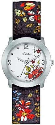 Reloj s.Oliver SO-2404-LQ de cuarzo para mujer con correa de piel, color marrón