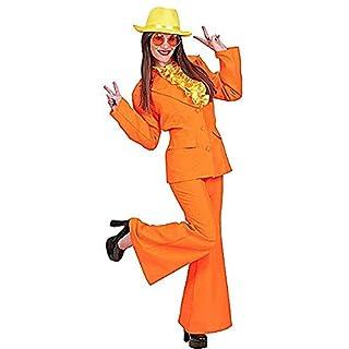 70er Disco-Kostüm für Damen orange M
