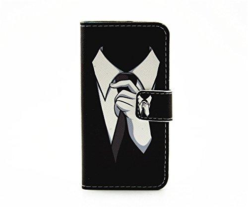 inShang Hülle für iPhone SE, SUPER PU Leder Tasche Hülle Skins Etui Schutzhülle Ständer Smart Case Cover für iPhone SE Cell Phone Displayschutzfolie Bildschirmschutzfolie, Handy , tie