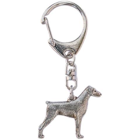 Dobermann Made in UK, Collezione Portachiavi Artistici Stile Cani
