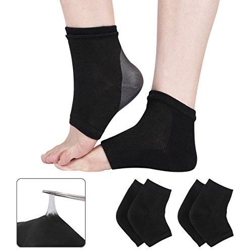2 Paar Feuchtigkeitsspendende Gel-Socken mit Spa-Qualität Gel für Trockene, Harte, Rissige und Raue Haut