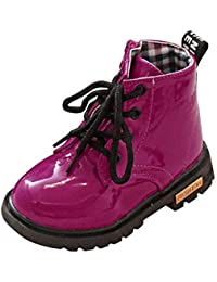 YanHoo Zapatos para niñas Botas de otoño e Invierno para niños. Botines Impermeables Moda Niños