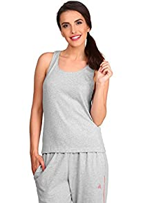 037c4fc14df Women s Cotton Tank Top (1535 Light Grey Melange M)
