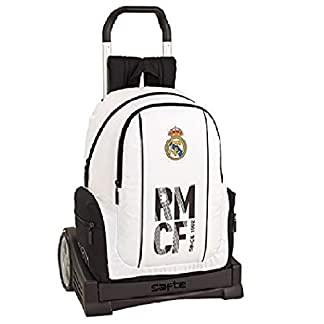 41v07CS69wL. SS324  - Real madrid cf Mochila con Carro Ruedas Evolution, Trolley.