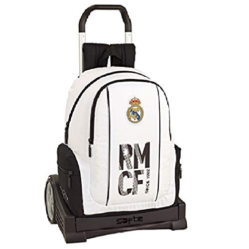 Real Madrid CF Mochila con Carro Ruedas Evolution, Trolley Equipaje...