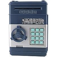 PeanutaocAC 7colors Kids Caja de Dinero electrónico Caja de Seguridad Ahorro de contraseña Cajero automático para Monedas y Billetes Código Sistema de Caja Clave Caja de Ahorro de Dinero