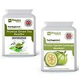 Grüner Tee + Garcinia Cambogia 500mg 60 Kapseln - Hergestellt in Großbritannien