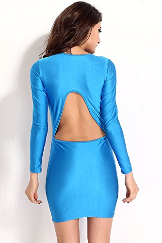 Dissa® femme Bleu SY21068-4 robe de cocktail Bleu