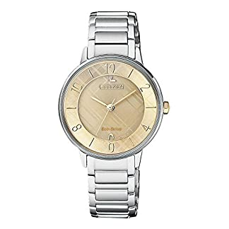 Citizen Analog Gold Dial Women's Watch-EM0526-88X