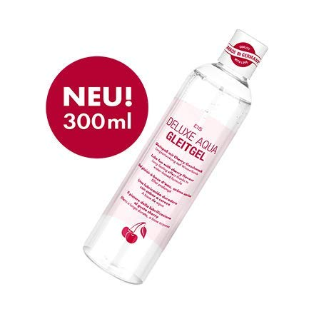 Deluxe Aqua Gleitgel von EIS, wasserbasierte Langzeitwirkung, Kirsche, 300 ml