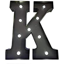 HLS LED - Letra K de Metal con luz LED - 33cm (13
