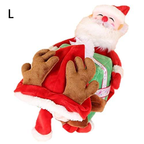 Libertry Laufende Weihnachts Weihnachten Pet Kostüme, Santa Hundekostüm Hundekleid Dressing Partei Kleidung Für Klein Groß Hunde Katzen Kleidung-Haustier-Outfit vividly