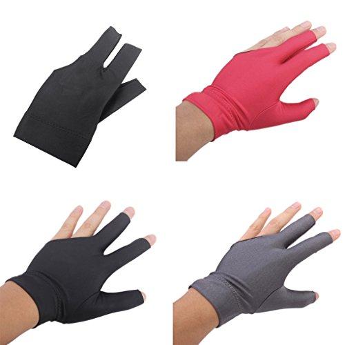 Sharplace 3pcs Packung Billiard Handschuhe - Drei Finger öffnender Handschuh