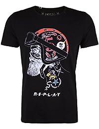 Replay Skull Helmet T-Shirt - M3285-098
