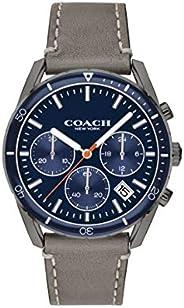 Coach Men's Navy Dial Fog Calfskin Watch - 1460