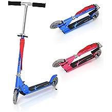 Fascol Patinete Plegable con Dos Ruedas,Monopatín Scooter para Ciudad Niños 3 - 13 Años, Azul