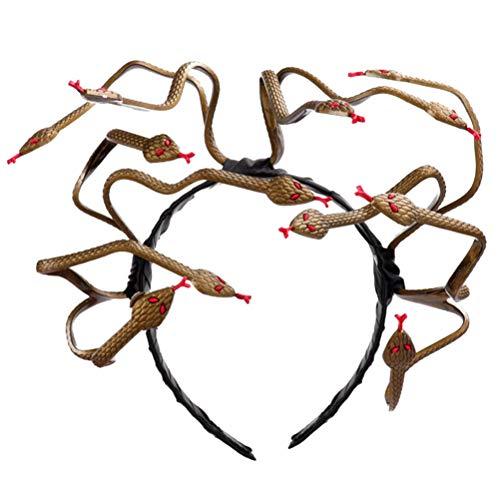 Amosfun Medusa Stirnband für Frauen Karneval Medusa Kostüm Kopfschmuck