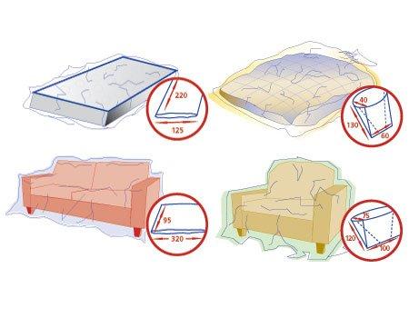 2 Stk. Schutzhüllen-Set für Matratze, Couch, Bett und Sessel