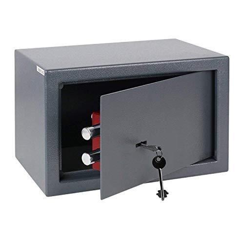 Homgrace Tresor Wandtresor Möbeltresor Mini Safe Tresor Wandsafe mit Schlüssel, 31 x 20 x 20 cm, 8,5 L, Schwarz