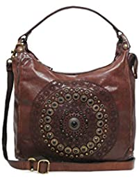 e4ffdb24e310 Campomaggi Women s Leather Studded Shopper Bag Brown