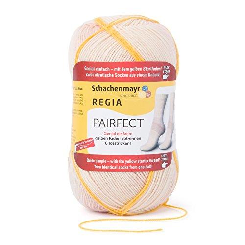 Regia 4-Fädig Pairfect 9801613-07091 Puder Handstrickgarn, Sockengarn, Identische SockenStricken, 100g Knäuel (Socke Garn Stricken)