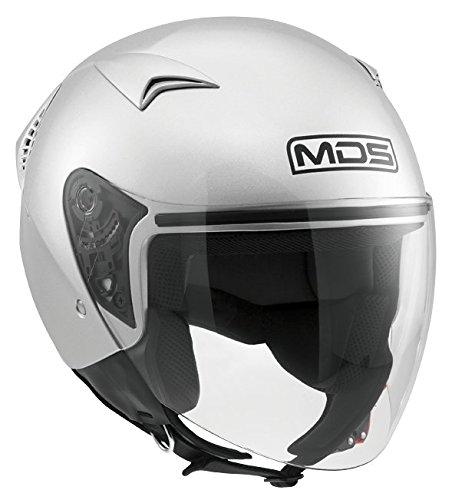 MDS Casco Moto G240 E2205 Solid, Silver, L