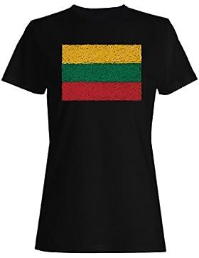 Nueva Bandera De Lituania Arte camiseta de las mujeres i220f