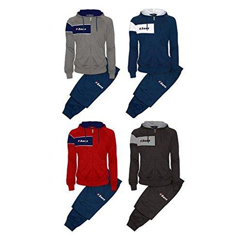Tuta Clio Rosso Blu Zeus Corsa Sport Uomo Staff Running jogging Allenamento Relax Calcio Calcetto Torneo Scuola Sport