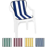 Almohada Cojín para silla con respaldo del asiento universales 100% mod.VIOLINO MADE IN ITALY, verde