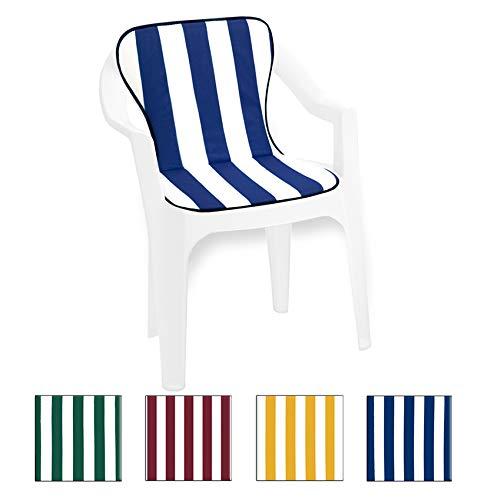 Cuscino coprisedia con seduta + schienale universali 100% made in italy mod.violino fasciato blu