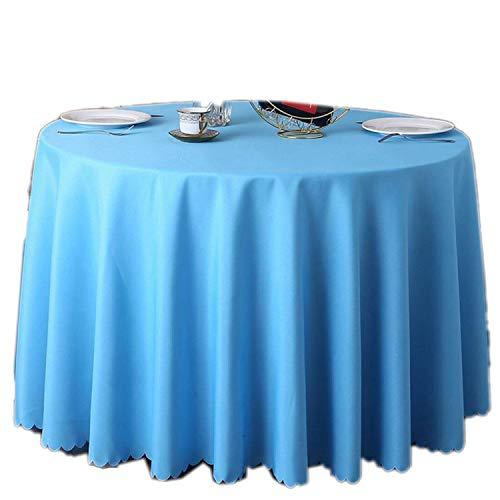 GUTT Tischdecke, einfarbig, 100% Polyester, rechteckig, einfarbig, Rot, Synthetisch, seeblau, 120 * 180cm (Stretch-vinyl-stoff)