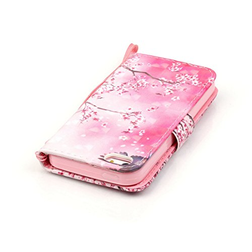 Yaking® Apple iPhone 5/5S/SE Coque, PU Portefeuille Étui Coque Stand Flip Housse Couvrir impression Case Cover pour Apple iPhone 5/5S/SE P-4
