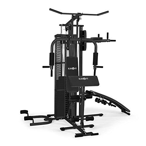 Klarfit Ultimate Gym 5000 Kraftstation Heimtrainer Trainingsstation Multifunktionale Fitnessstation für über 50 Übungen Ganzkörpertraining inkl. Gewichte schwarz oder weiß