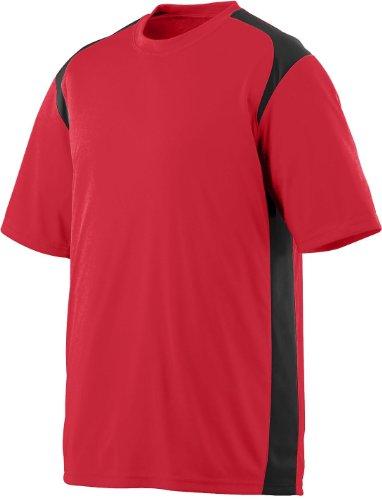Augusta Herren T-Shirt Mehrfarbig - rot / schwarz