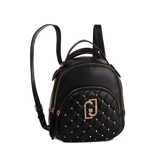 Zaino liu-jo backpack s in ecopelle colore nero donna b20lj04