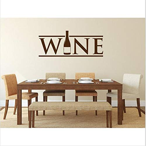 pegatinas de pared 3d infantil Botella de vino para cocina, pared, restaurante, comedor, pared, hogar, calcomanías, decoración