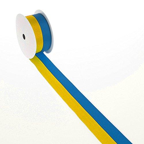 Vereinsband - gelb, blau - 15 mm x 25 m - 2436 15 S