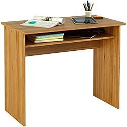 Meka-Block K-9465N - Mesa de escritorio, 90 cm de ancho, color nogal