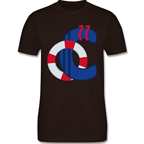 Anfangsbuchstaben - C Schifffahrt - Herren Premium T-Shirt Braun