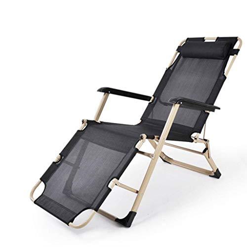 LE Klappstühle Im Freien Klappstuhl Ruhesessel Einzelbett Büro Nickerchen Stuhl Leisure Beach Camp Stuhl A 178x66x89cm(70x26x35)