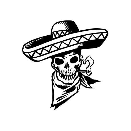Sticker autoadesivo logo Skull 23, disponibile in più colori, 19 x 20 nero