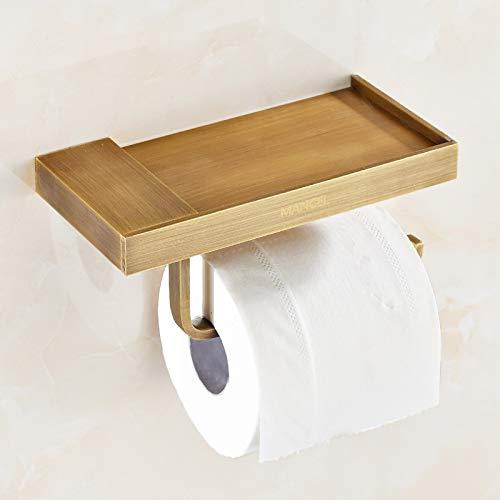 JONTON Badezimmer-Zubehör Toilettenpapier antiken Rahmen Bad Tissue Box WC-Toilettenpapierhalter Kupfer Papierhandtuchhalter Europäischen Bad