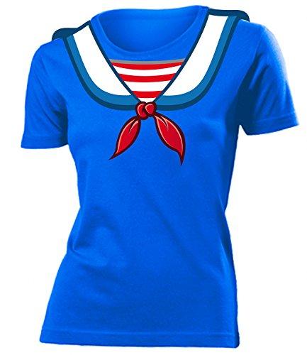 Matrosenkostüm Matrosen Karneval Kostüm 4545 Damen T-Shirt Karneval Fasching Faschingskostüm Karnevalskostüm Paarkostüm Gruppenkostüm Blau XXL