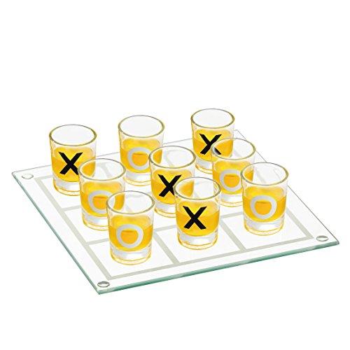 Preis am Stiel Trinkspiel ''Tic Tac Toe'' aus Glas   Gesellschaftsspiel   Partyspiel   Kult Spiel Festival   Saufspiel   Spiele für Erwachsene   Brettspiel   Junggesellenabschied   Sportler Tac Gläsern