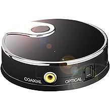 Transmisor de audio Bluetooth 4.0 Audio para Smart TV XBOX PS4 Bose JBL B&W con entradas integradas Óptica Toslink S/PDIF Coaxial. Conecta hasta 2 Auriculares Wireless sin Lags by URANT
