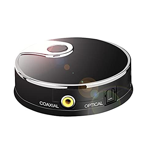 URANT Transmetteur Audio Bluetooth 4.0 Pour Téléviseur Intelligent XBOX PS4 Bose JBL B & W Intégrée Toslink Optique S / PDIF Entrée AUX Coaxiale Connexion Casque sans fil Double Laisses Plus Basses