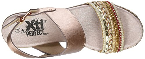 Xti 47659, Sandales Bout Ouvert Femme Rose (Nude)