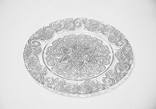 Verre Assiette de 12 motifs 5 couleurs Mariage événements Décor repas de Noël 32cm Silver Royal Design 0294