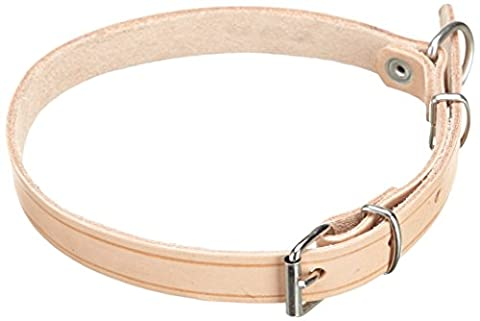 Julius K9 – Collier Cuir – riveté, 40 mm x 75 cm (Naturel)